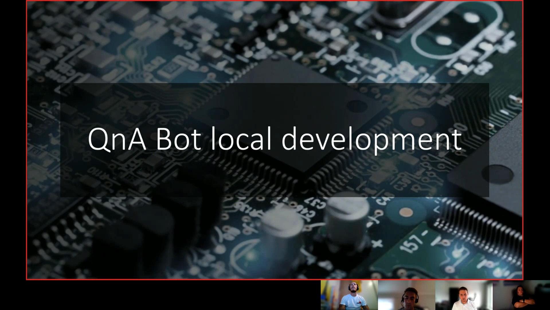 QnA bot local development