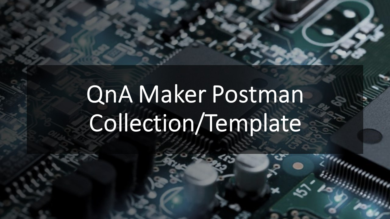 QnA maker Postman collection