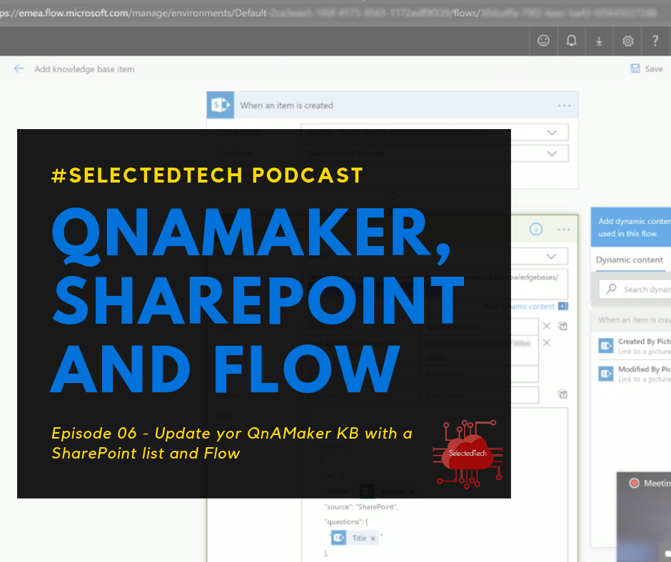 QnAMaker, SharePoint and Microsoft Flow