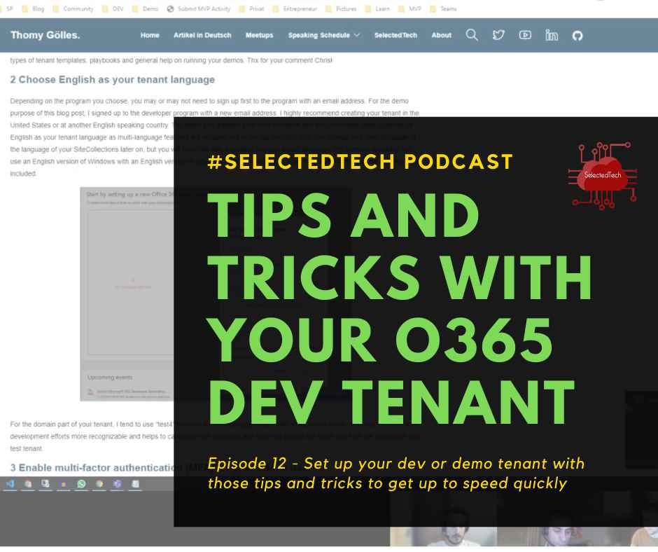 Tips & tricks for your Office dev tenant