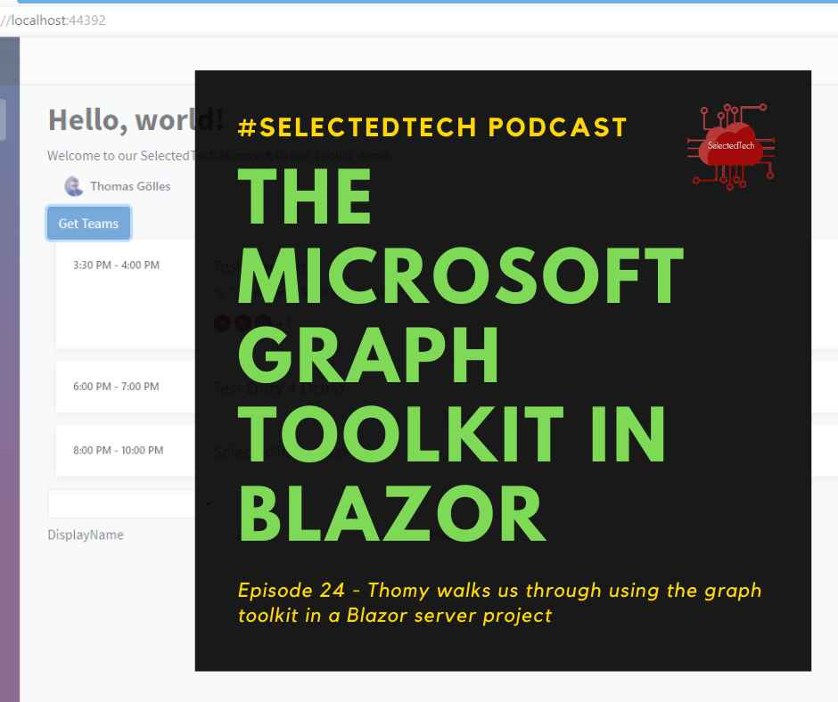 Microsoft Graph Toolkit with Blazor