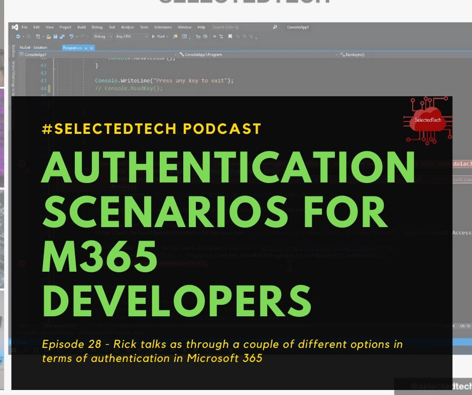 Authentication scenarios for Microsoft 365 Developers